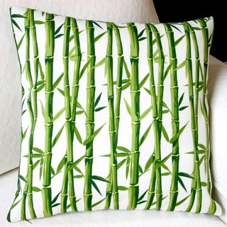 Artisan Pillows Indoor/Outdoor 18-inch Bamboo in Cream Tropical Island Beach Modern Orien