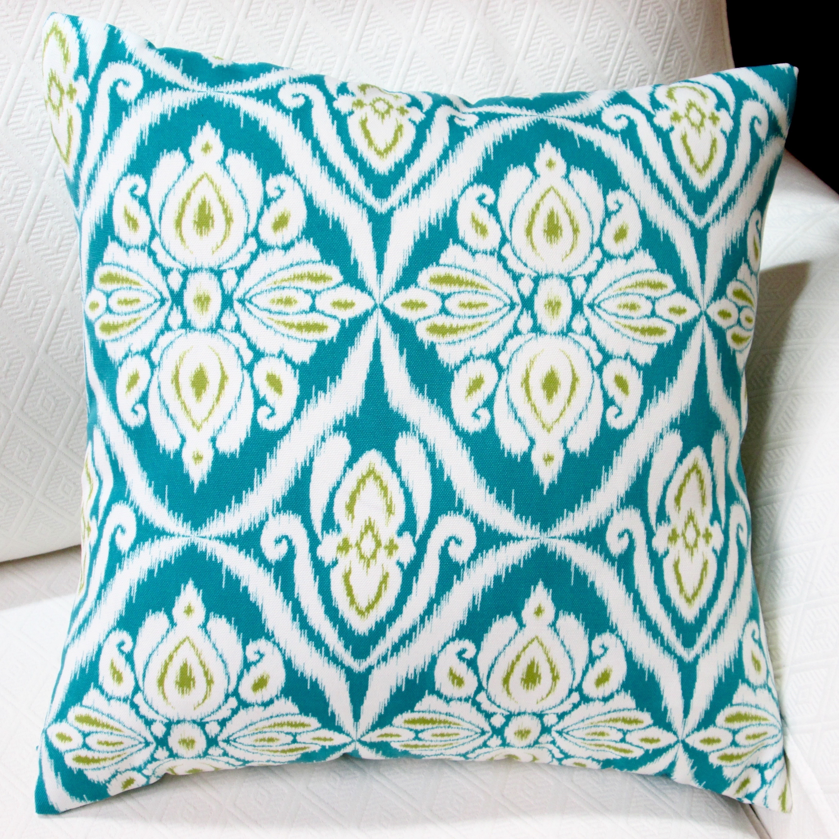 Artisan Pillows Indoor Outdoor 18 Inch Peacock In Blue Modern Geometric Abstract Throw Pillow Set Of 2 Overstock 10353513