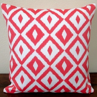 Artisan Pillows Indoor/Outdoor 18-inch Coral Orange Modern Coastal Geometric Throw Pillow (Set of 2)