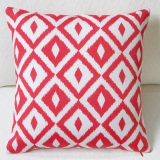 Artisan Pillows Indoor/Outdoor 18-inch Coral Orange Modern Coastal Geometric Throw Pillow Cover (Set of 2)