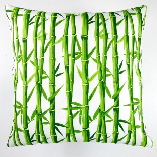 Artisan Pillows Indoor/Outdoor 18-inch Bamboo in Cream Tropical Island Beach Modern Orien