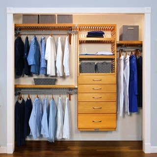 John Louis 5-drawer Honey Maple Deluxe Closet Organizer