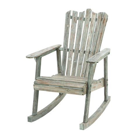 Nautical Wood Rocking Chair