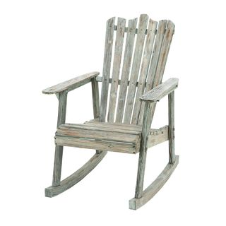 Nautical Wood Rocking Chair