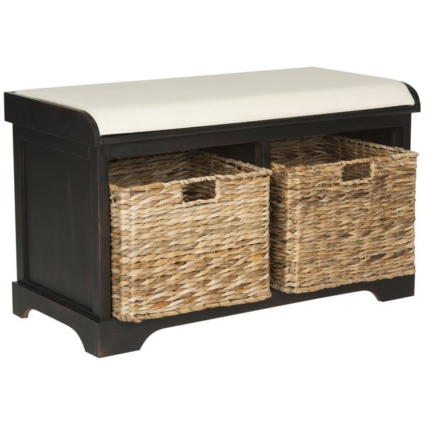 Safavieh Freddy Brown Storage Bench Free Shipping Today