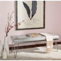 Safavieh Marcella Grey/ Chrome Bench