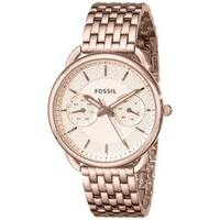 Fossil Women's Tailor Multifunction Rose-Tone Gold Stainless Steel Watch ES3713