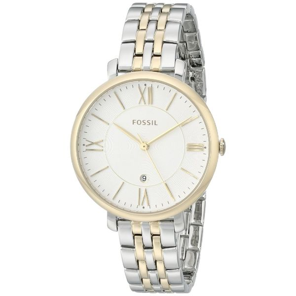 ace77d571303 Fossil Women's Jacqueline Silver Dial Two-Tone Stainless Steel Watch