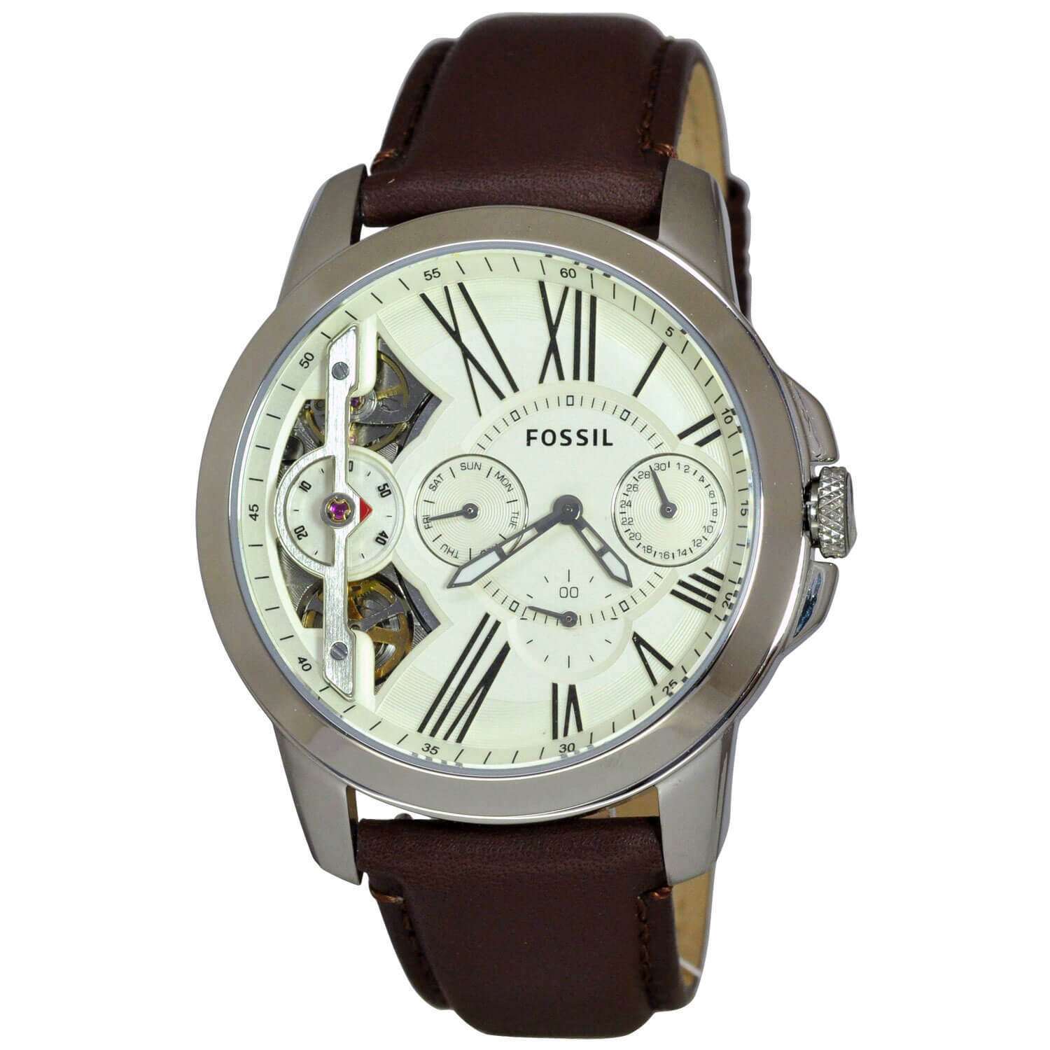 Fossil Men's Grant Twist Multifunction Off-White Dial Bro...