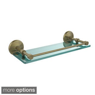 Allied Brass Monte Carlo 16-inch Tempered Glass Shelf with Gallery Rail