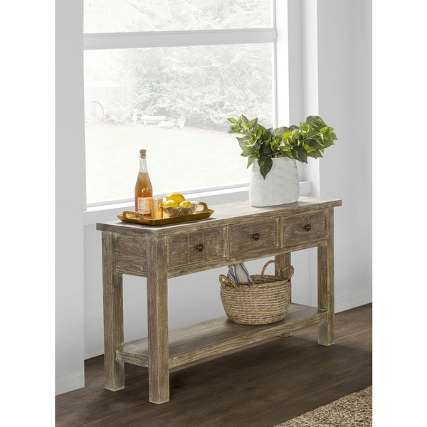 Charmant Rockie Rustic Wood Console Table By Kosas Home