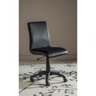 "Safavieh Office Black Hal Desk Chair - 18.1"" x 22.4"" x 32.5"""