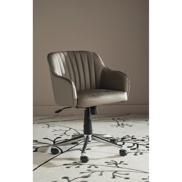 "Safavieh Office Grey Hilda Desk Chair - 23.6"" x 25.2"" x 31.1"""