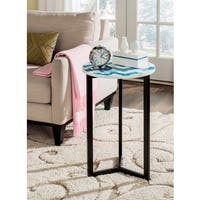 Safavieh Zaira Blue/ White End Table