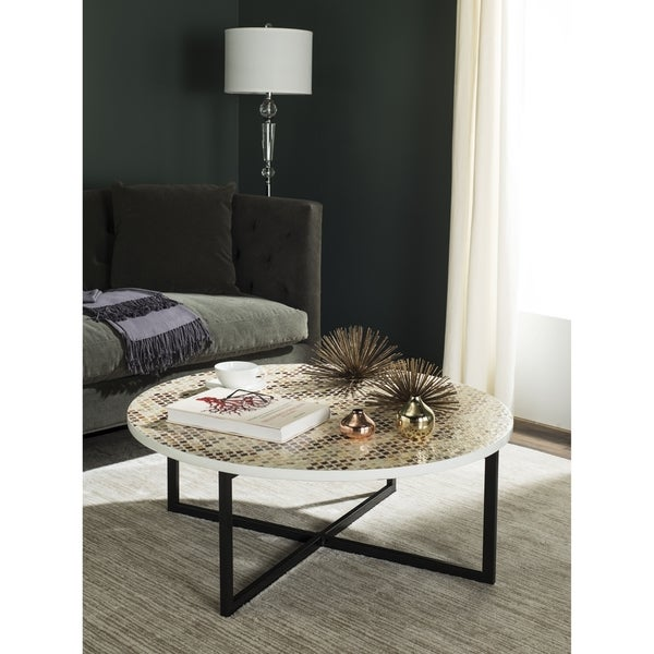 Shop Safavieh Cheyenne Cream Coffee Table 39 8 Quot X 39 8