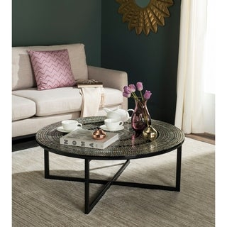 Safavieh Cheyenne Grey Round Coffee Table