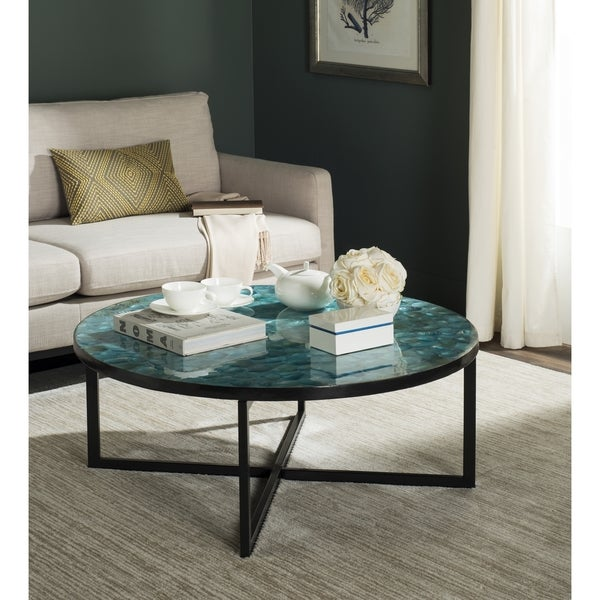 Safavieh Cheyenne Turquoise Coffee Table Free Shipping Today