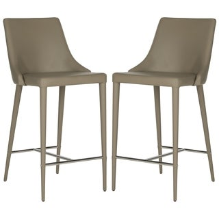 Safavieh Mid-Century Dining Summerset 26-inch Taupe Counter Stool (Set of 2)