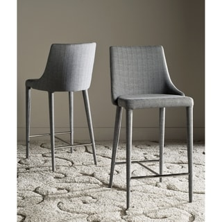 Safavieh 26-inch Summerset Grey Linen Counter Stool (Set of 2)
