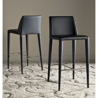 Safavieh Mid-Century 30-inch Garretson Black Bar Stool (Set of 2)