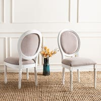 Safavieh Old World Dining Holloway Spring Green/ Cream Parisian Oval Dining Chairs (Set of 2) - 12' x 15'