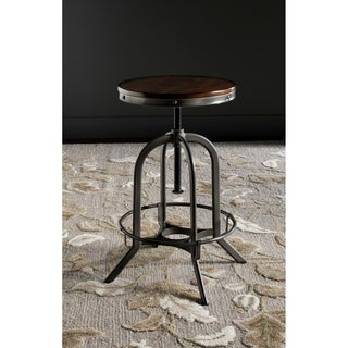 Safavieh Wildomar Burnt 24-34 Inch Adjustable Oak Stool
