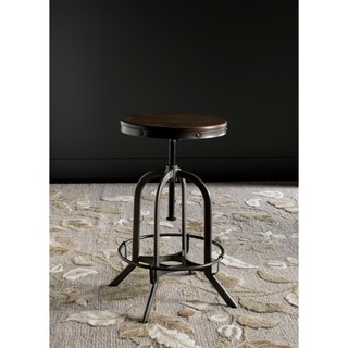 Safavieh Wildomar Weathered 24-34 Inch Adjustable Oak Stool