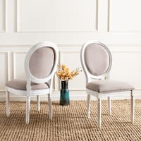 Safavieh Dining Old World Holloway Taupe Oval Dining Chairs (Set of 2)