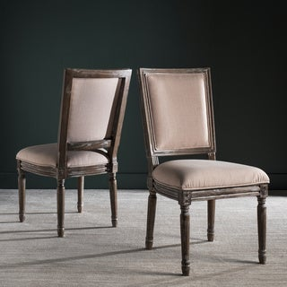 Safavieh Old World Dining Buchanan Beige Rect Side Chairs (Set of 2)