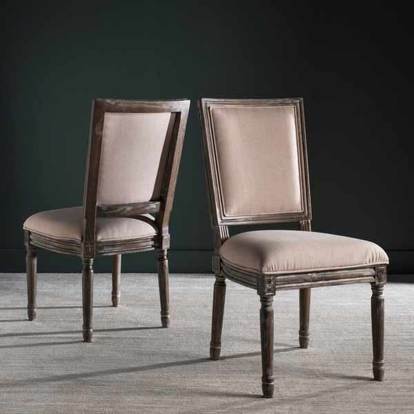 Safavieh Old World Dining Buchanan Beige Rect Dining Chairs (Set Of 2)