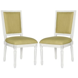 Safavieh Old World Dining Buchanan Spring Green Rect Dining Chairs (Set of 2)