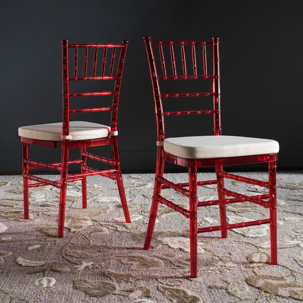 Safavieh Country Classic Dining Carly Red Dining Chairs (Set of 2)
