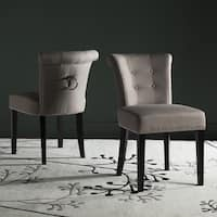 Safavieh Dining Ward Smoke Nailhead Ring Dining Chairs (Set of 2)