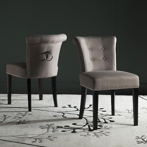 "Safavieh Dining Ward Smoke Nailhead Ring Dining Chairs (Set of 2) - 19.5"" x 24.2"" x 33.4"" - 19.5"" x 24.2"" x 33.4"""