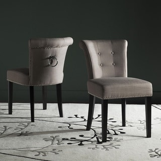 "Safavieh Dining Ward Smoke Nailhead Ring Dining Chairs (Set of 2) - 19.5"" x 24.2"" x 33.4"""