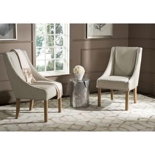 Safavieh En Vogue Dining Morris Biege Sloping Arm Dining Chairs (Set of 2)