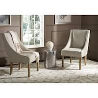 Safavieh En Vogue Dining Morris Beige Sloping Arm Dining Chairs (Set of 2)