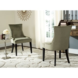 Safavieh En Vogue Dining Lester Evergreen Cotton Dining Chairs (Set of 2)