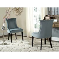 "Safavieh En Vogue Dining Lester Blue Dining Chairs (Set of 2) - 22"" x 24.8"" x 36.4"""