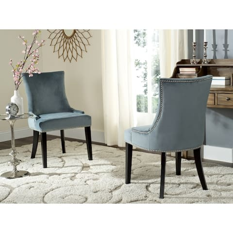 """SAFAVIEH Dining Lester Blue Dining Chairs (Set of 2) - 22"""" x 24.8"""" x 36.4"""""""
