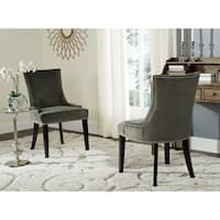 "Safavieh En Vogue Dining Lester Graphite Dining Chairs (Set of 2) - 22"" x 24.8"" x 36.4"""