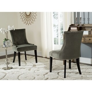 Safavieh En Vogue Dining Lester Graphite Dining Chairs (Set of 2)