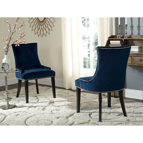 Shop Safavieh En Vogue Dining Lester Navy Dining Chairs