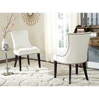 Safavieh En Vogue Dining Lester White Dining Chairs (Set of 2)