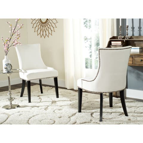 """SAFAVIEH Dining Lester White Dining Chairs (Set of 2) - 22"""" x 24.8"""" x 36.4"""""""