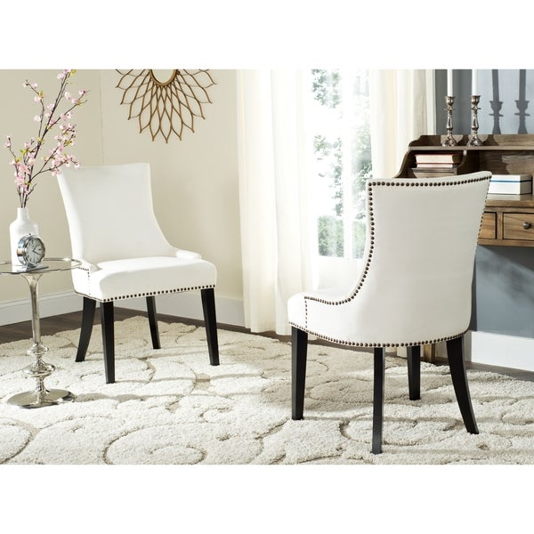 Overstock Dining Room Chairs: Safavieh En Vogue Dining Lester White Dining Chairs (Set