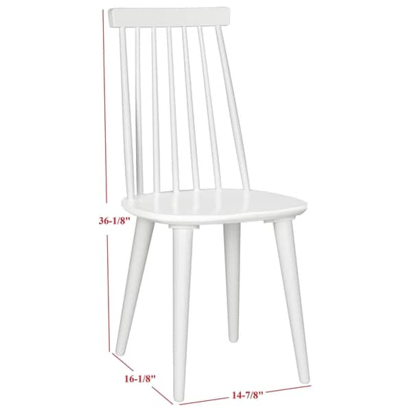 Remarkable Shop Safavieh Dining Country Burris White Wood Dining Chairs Pabps2019 Chair Design Images Pabps2019Com