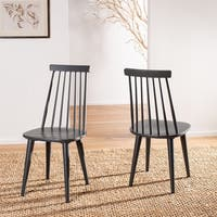 Safavieh Country Classic Dining Burris Grey Dining Chairs (Set of 2)