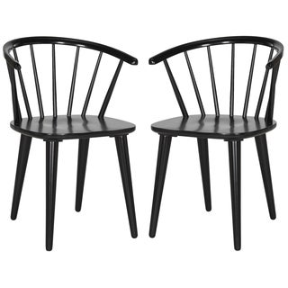 Safavieh Country Classic Dining Blanchard Black Dining Chairs (Set of 2)