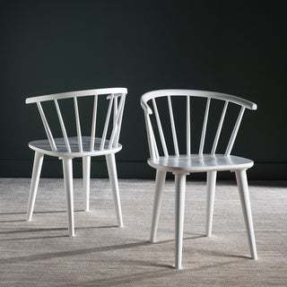 Safavieh Country Classic Dining Blanchard White Side Chairs (Set of 2)
